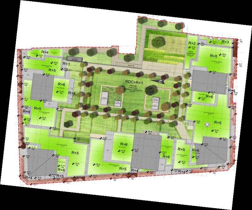 Plan de masse de la dernière tranche de la ZAC (Crédit Agricole Immobilier ; agence AUSIA)