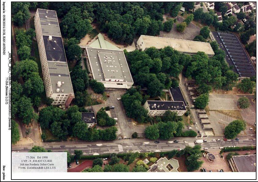 Le site actuel en vue aérienne (Google)