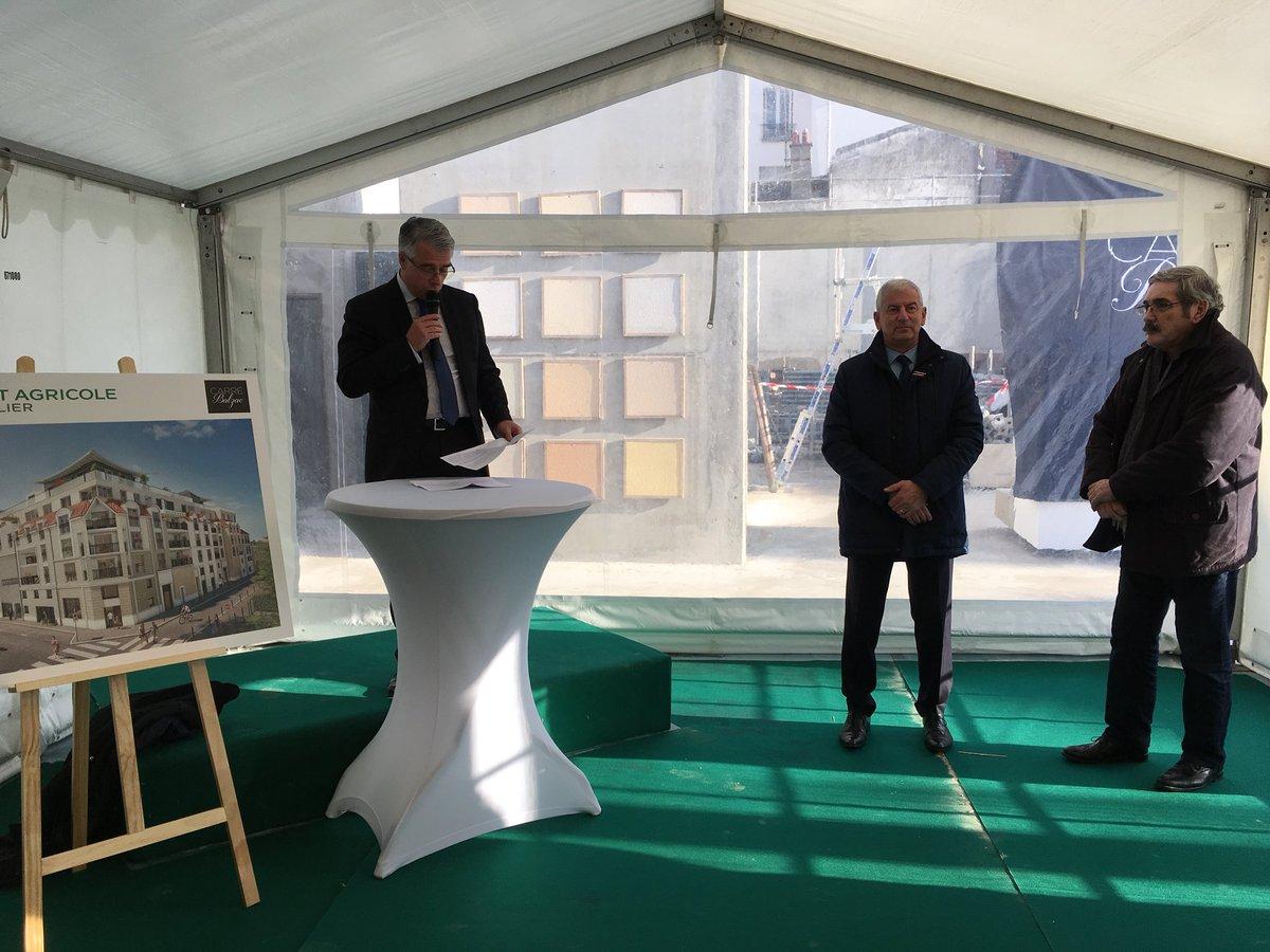 En présence de Sinclair Vouriot (à droite), Président d'Aménagement 77