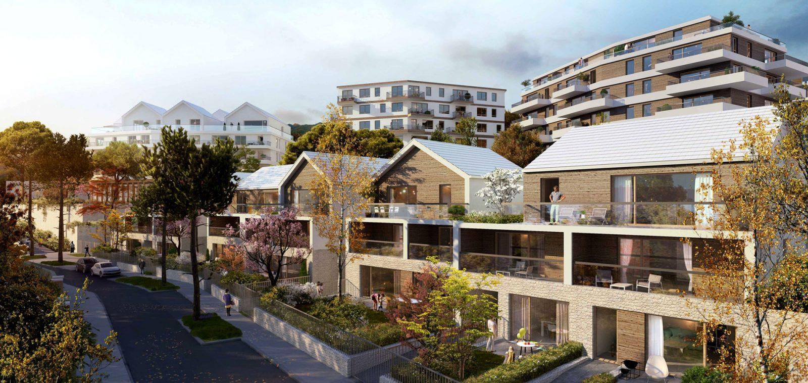 vue rue des Yèbles, MFR Architectes (Ametis/Ideom)