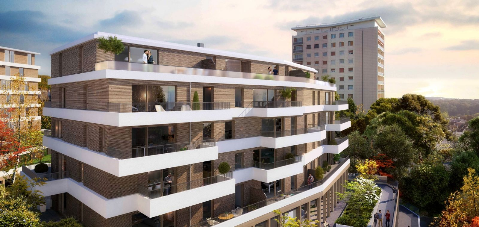 Perspective du projet (MFR Architectes ; Ametis/Ideom)