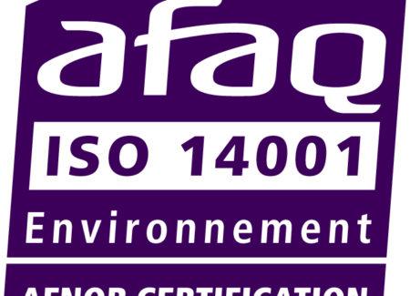 Certifications ISO 9001 et 14001 renouvelées et élargies