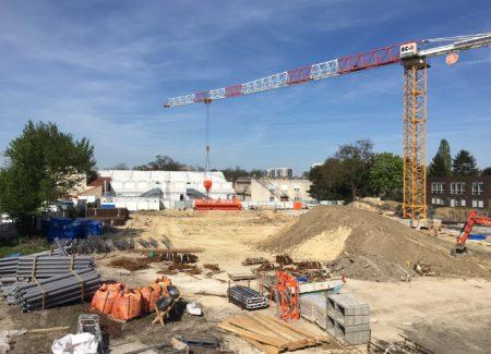 Le chantier du Lycée Alfred Costes à Bobigny avance...