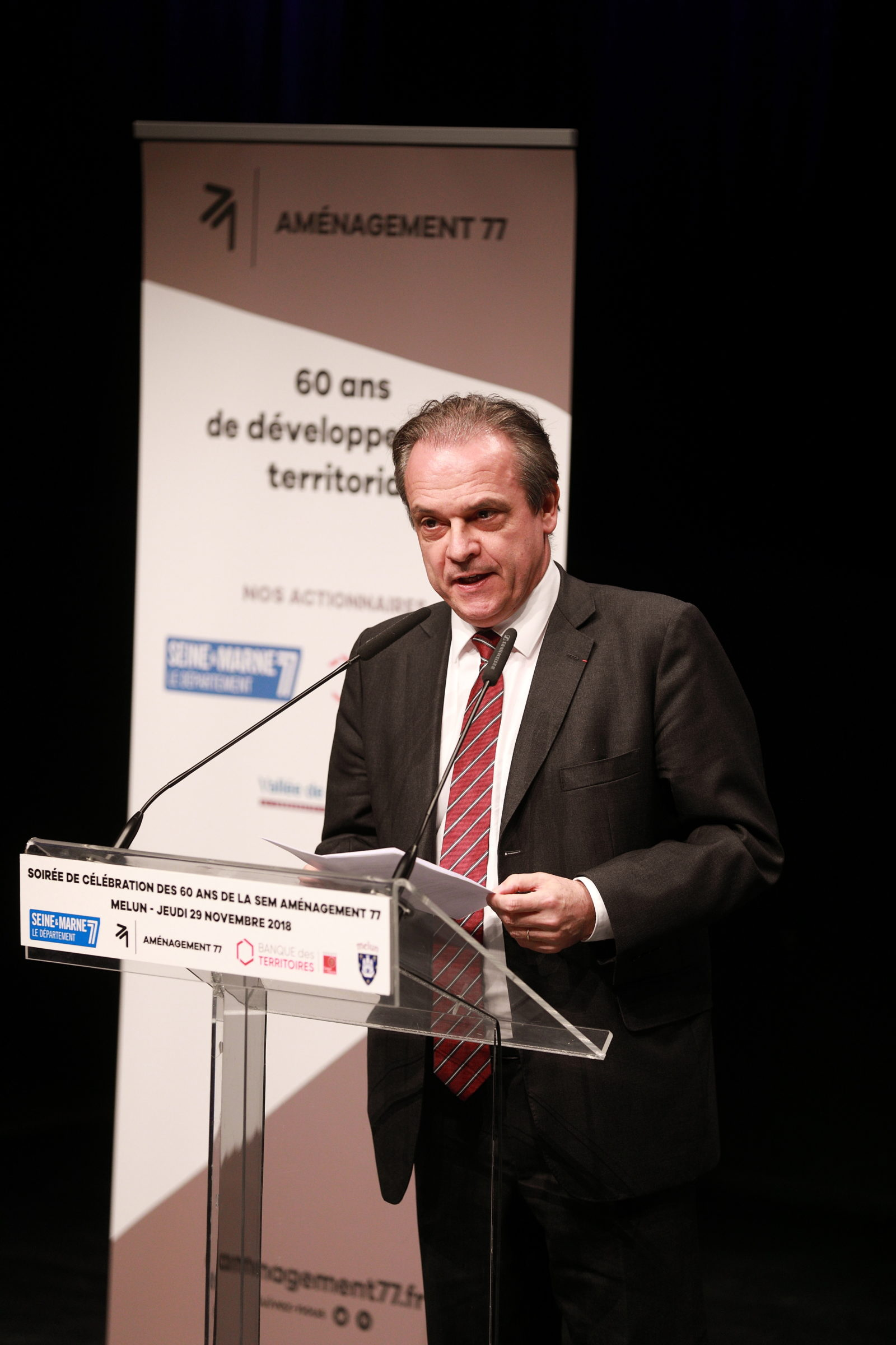 Louis VOGEL - Maire de Melun et Président de la Communauté d'Agglomération Melun Val de Seine