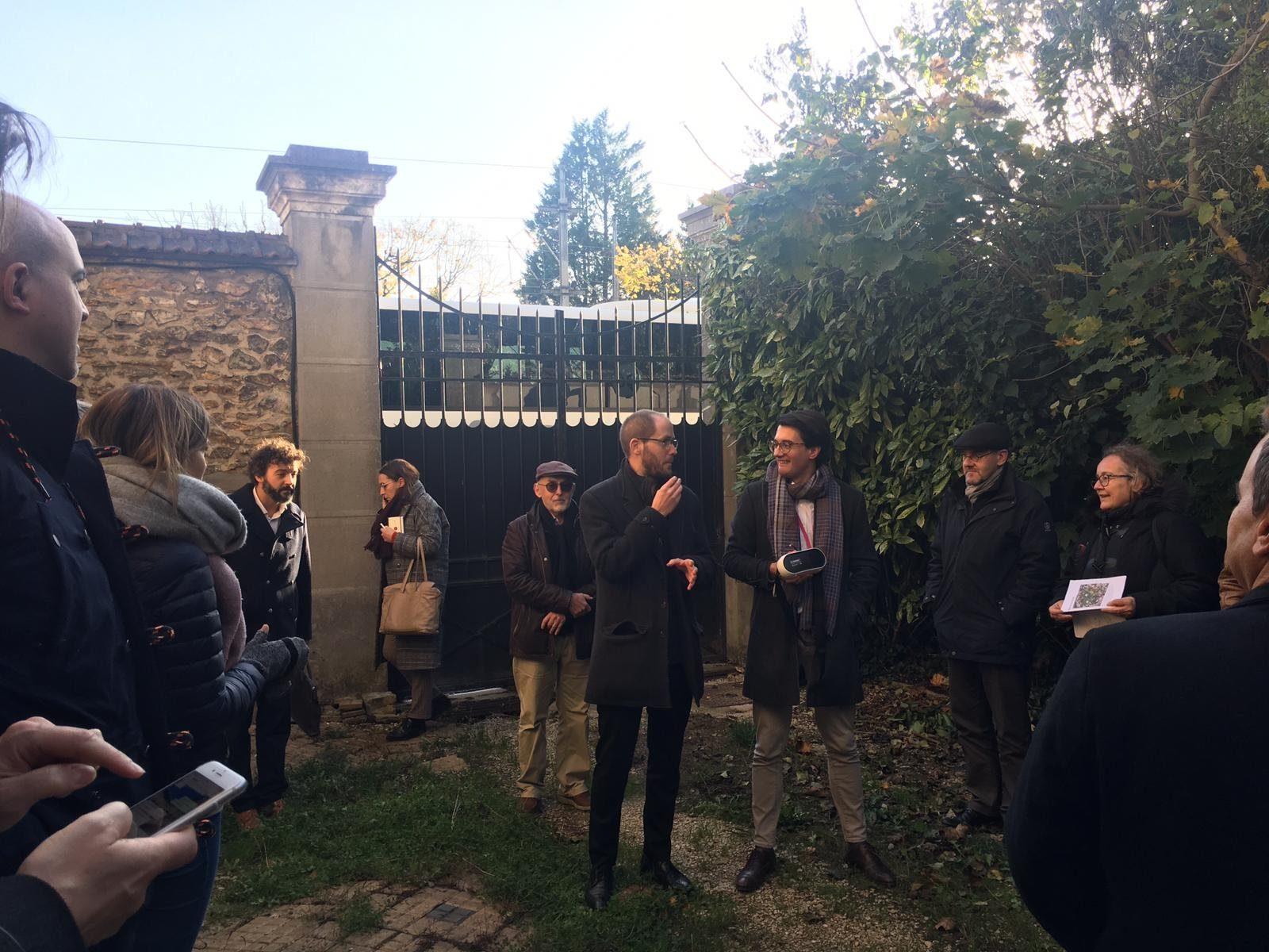 Visite de site à Pomponne lors d'un des ateliers organisés par l'Institut Paris Région (7 novembre 2019)