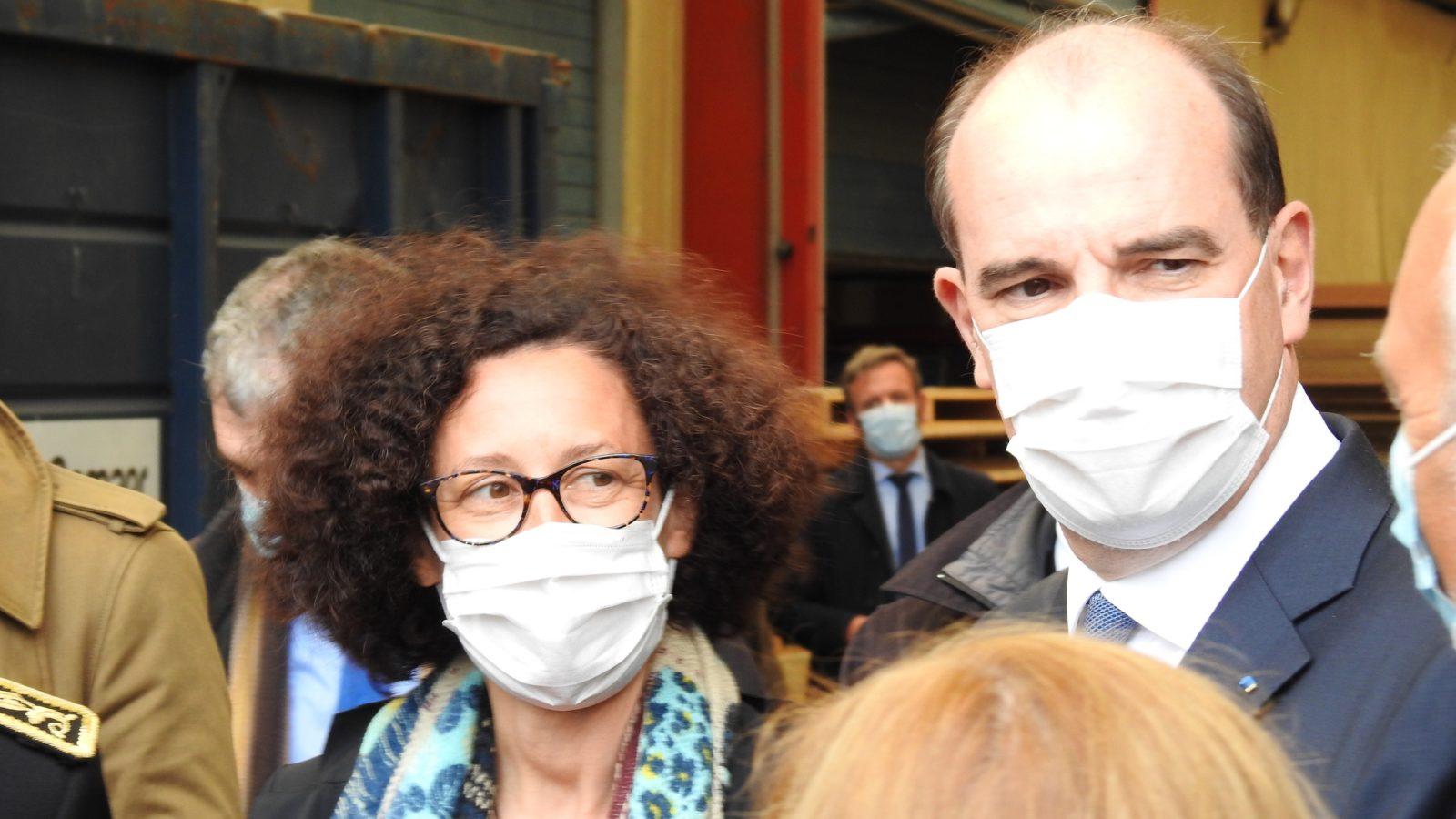 La ministre déléguée au Logement, Emmanuelle WARGON et le Premier Ministre, Jean CASTEX